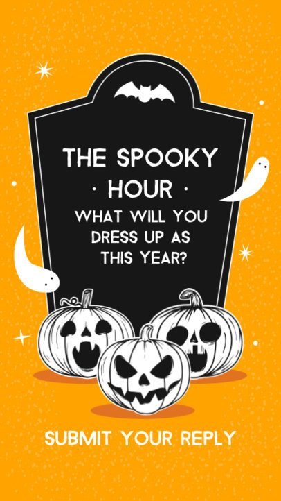 Instagram Story Template to Ask Halloween-Themed Questions 2860c-el1