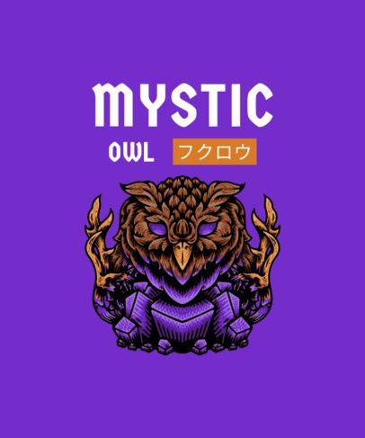 T-Shirt Design Creator Featuring a Mystic Owl Illustration 2933a-el1