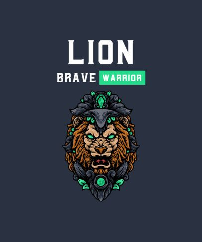 T-Shirt Design Generator with a Detailed Lion Illustration 2933c-el1