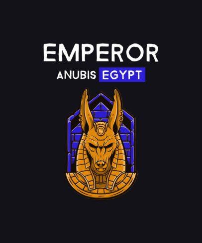T-Shirt Design Template Featuring an Anubis Graphic 2933f-el1