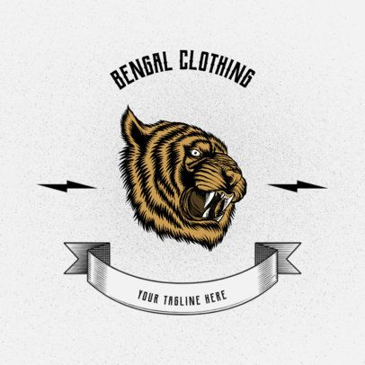 Clothing Brand Logo Maker with a Bengal Tiger Graphic 2944d-el1