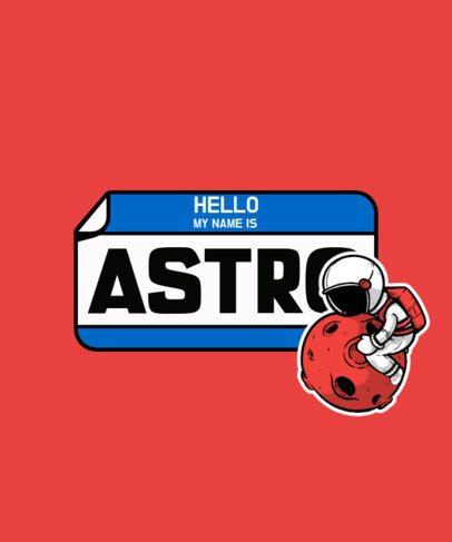 T-Shirt Design Generator Featuring an Astronaut Sticker Graphic 2931d-el1