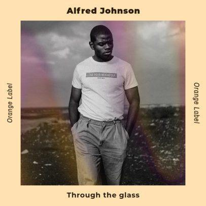 Artistic Album Cover Design Template for an R&B Male Singer 2958e