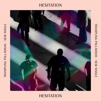 Artistic Album Cover Design Maker Featuring a Fluorescent Filter for a Rock Band 2958d
