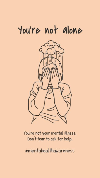 Illustrated Instagram Story Maker for Mental Health Awareness Month 2960a