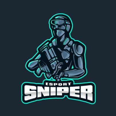 E-Sports Team Logo Creator Featuring a Soldier with a Rifle 2942b-el1