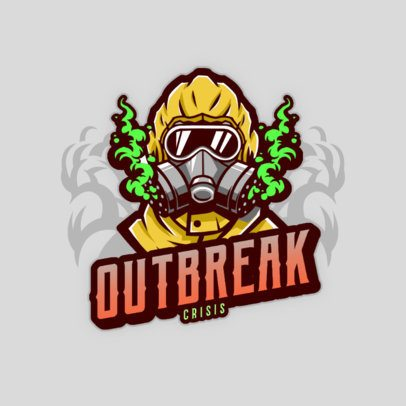 Logo Template for Gaming Teams Featuring a Character in a Hazmat Suit 3672j
