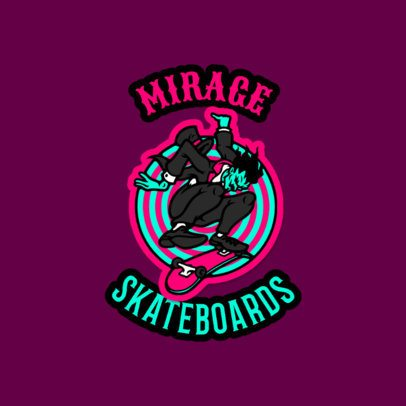 Retro Logo Generator for a Skate Shop Featuring a Cartoon Character 3681c