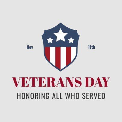 Instagram Post Design Template to Honor War Veterans 2994