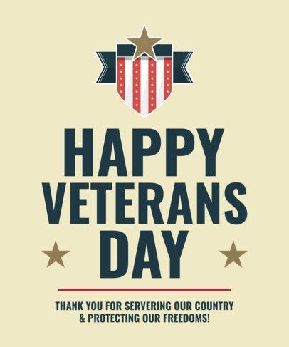 Patriotic T-Shirt Design Maker for Veterans 2993