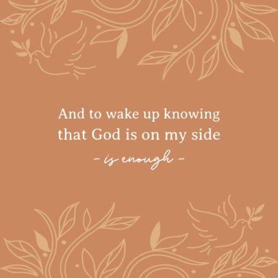 Christian Instagram Post Design Creator Featuring Inspiring Quotes 2987