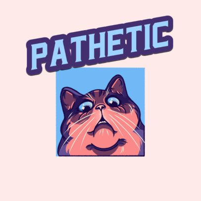 Twitch Emote Logo Creator with a Funny Judging Cat 3674g