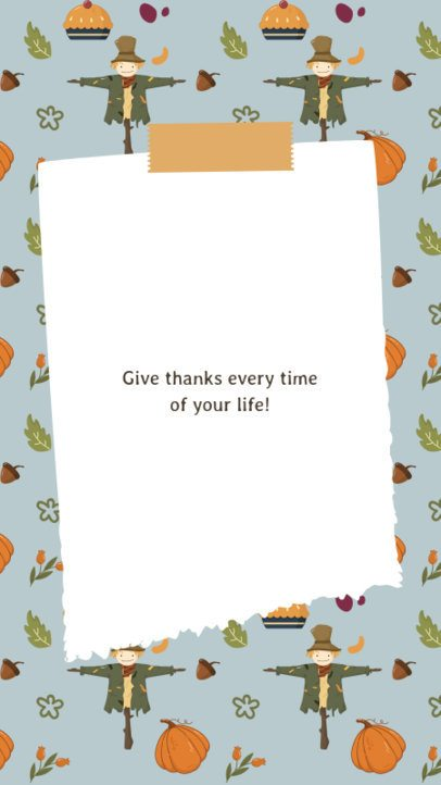 Instagram Story Template with a Gratitude Quote 2947b-el1