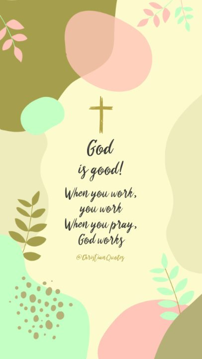 Instagram Story Maker with Christian Quotes and Pastel Tones 2986