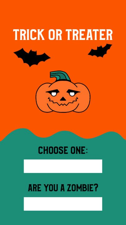 Instagram Story Template with Halloween Questions 2954a-el1