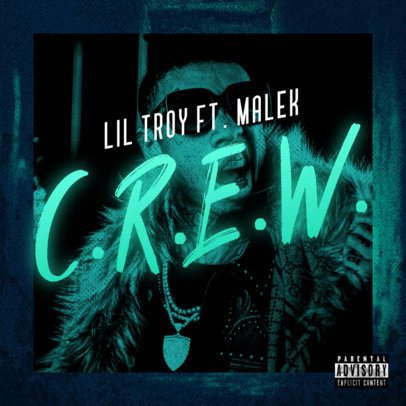 Album Cover Art Maker for Trap Artists Featuring a Bold Neon Typeface 2983h