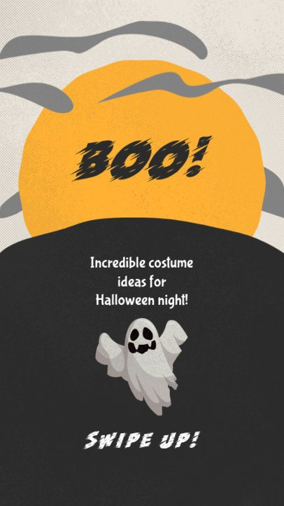Instagram Story Design Maker with a Halloween Theme and a Ghost 2953a-el1