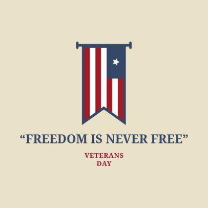 Veterans' Day Instagram Post Maker with a Quote About Freedom 2994a