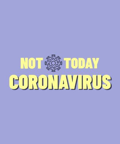 T-Shirt Design Generator Featuring a Coronavirus Quote 2980d