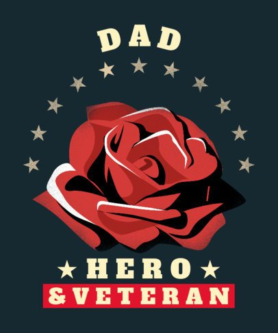 T-Shirt Design Maker to Honor a Veteran Father 2992c