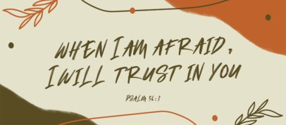 Facebook Cover Maker Featuring a Psalms Quote 2988g