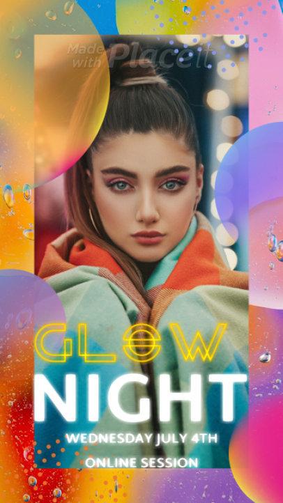 Colorful Instagram Story Video Maker for a Female Pop Singer's Online Performance 2286