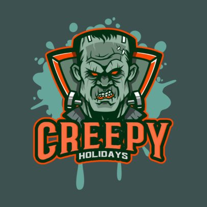 Gaming Logo Creator with the Face of the Monster of Frankenstein 3711q