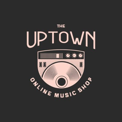 Logo Maker for a Music Shop with a Vintage Vinyl Graphic 3704b