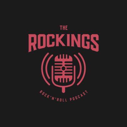 Vintage Logo Generator for a Rock'n'Roll Podcast  3704d