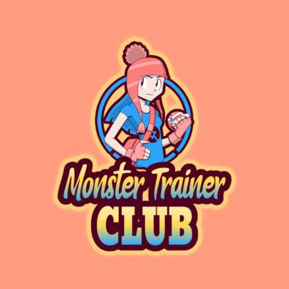 Free Gaming Logo Maker with a Character Inspired by Pokemon 3724k