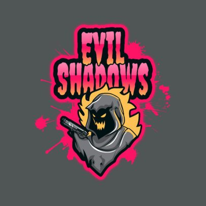 Free Logo Maker for a Gaming Squad Featuring an Evil Hooded Shooter 3724q
