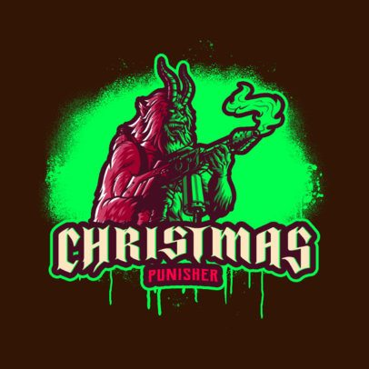 Logo Creator for a Gaming Team Featuring a Krampus-Inspired Character 3711k