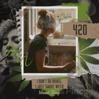Instagram Post Video Creator with a Weed-Theme 2282