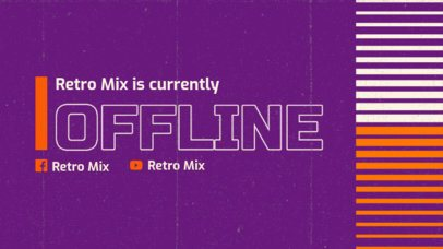 Twitch Offline Banner Maker for a Retro DJ Streamer 3019f
