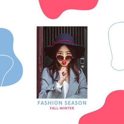 Instagram Post Design Generator for Fashion Bloggers Featuring an Abstract Background 3002e-el1