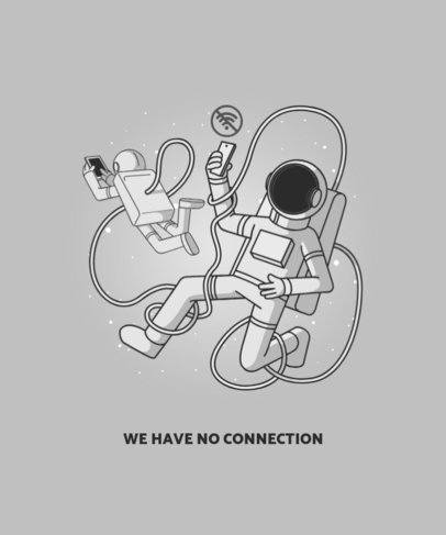 T-Shirt Design Creator Featuring Astronauts with Smartphones in Space 2990a-el1