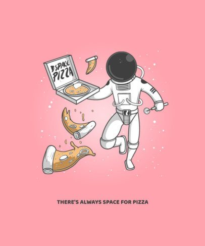 T-Shirt Design Creator of an Astronaut Trying to Eat Pizza in Space 2990d-el1