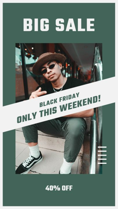 Instagram Story Template Featuring a Limited Time Black Friday Offer 2980a-el1
