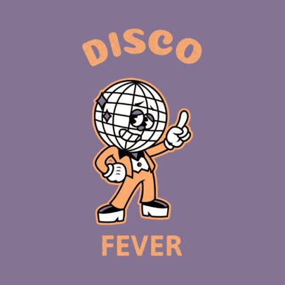 Cartoonish Logo Maker with a Disco Music Theme 3735b