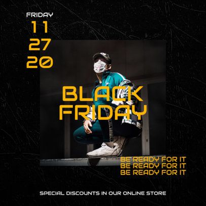 Instagram Post Template Featuring Black Friday Sales 2986-el1