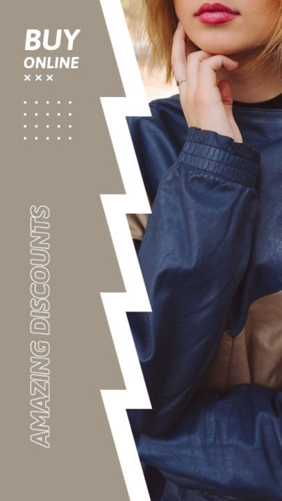 Trendy Instagram Story Design Creator for a Clothing Brand's Discount Announcement 2978c-el1