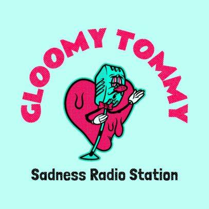 Cartoonish Logo Maker for a Romantic Radio Station 3735h