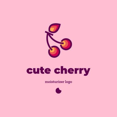 Online Logo Generator for a Moisturizers Brand with a Cherry Graphic 3727e