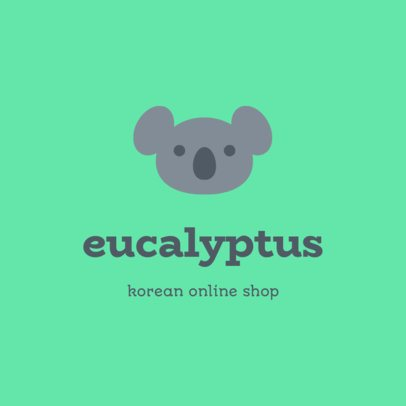 Online Logo Template for a Dropshipping Korean Brand with a Koala Graphic 3727g