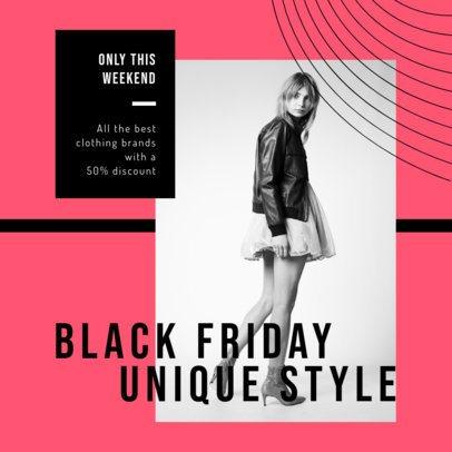 Instagram Post Template for Black Friday Fashion Deals 2982d-el1