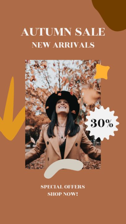 Instagram Story Maker for a Fall Special Discount 2996c-el1