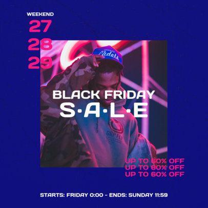 Instagram Post Maker for a Streetwear Brand Black Friday Sale 2986e-el1