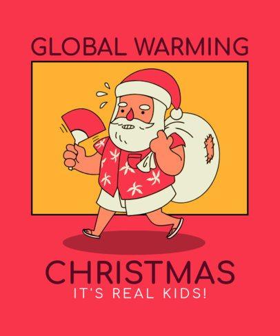 Christmas-Themed T-Shirt Design Maker Featuring a Summer Santa 3012a