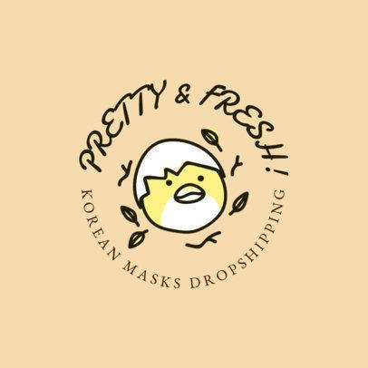 Illustrated Logo Creator for Korean Masks Dropshipping 3729e