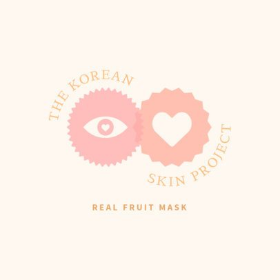 Logo Template for Korean Skincare Brands Featuring a Pastel Color Palette 3726a